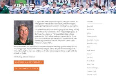 Brentwood Christian School - Athletics