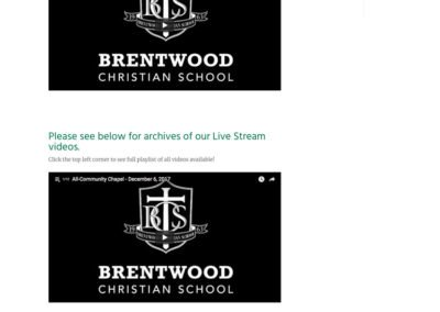 Brentwood Christian School - Live Stream