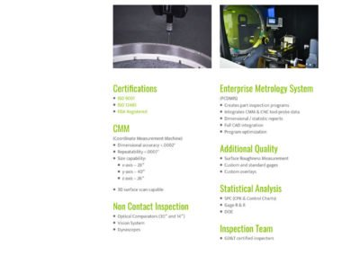 One Source Manufacturing - Quality