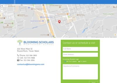 Blooming Scholars Montessori - Contact