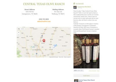 Central Texas Olive Ranch - Contact